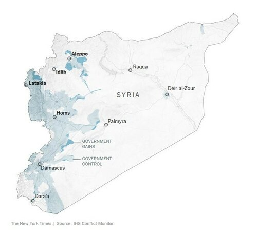 Сирия_отвоеванные территории (The New York Times)