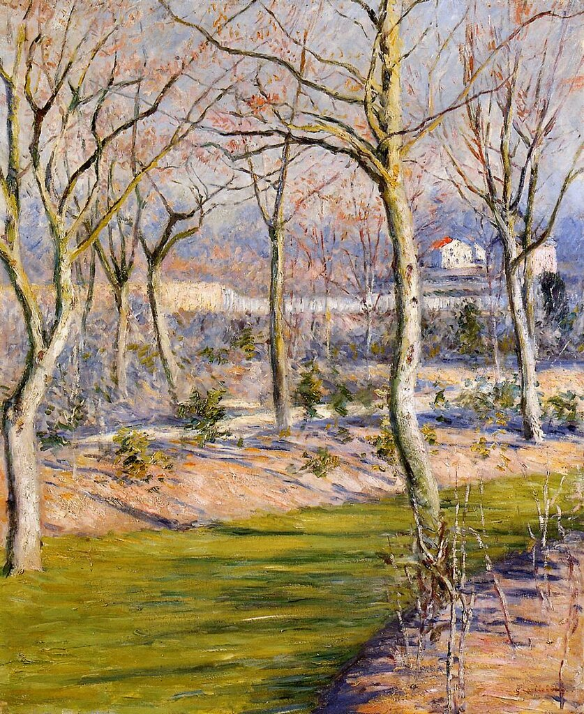 The Garden at Petit Gennevilliers in Winter - 1894- Private collection -  Painting - oil on canvas.jpg