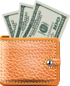 кошелек с деньгами