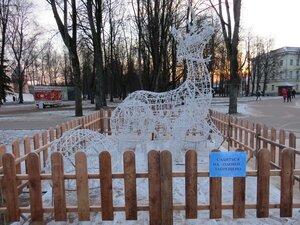 Светящийся олень - Новый год в Великом Новгороде