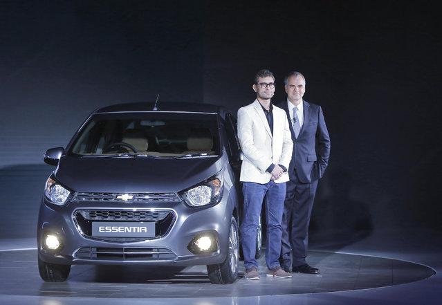 Stefan Jacoby (R), General Motors (GM) International President and Harish Kumar, Creative Designer G