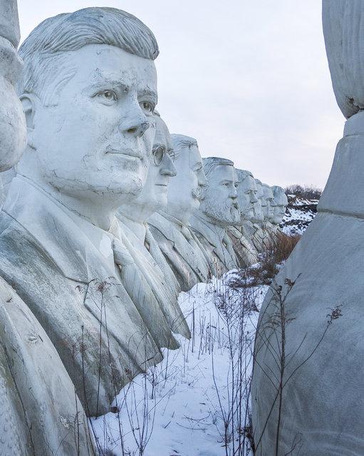L-R: John F Kennedy, Harry S Truman, Grover Cleveland, James A Garfield, Ulysses S Grant, Andre John