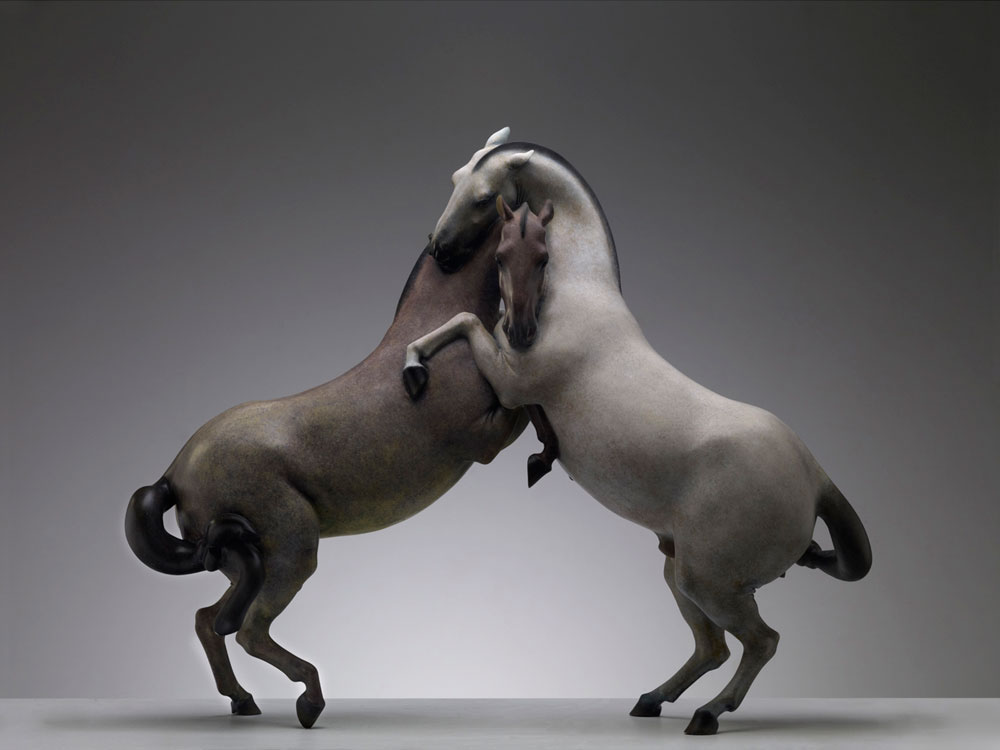 Horse.Play – No.3, 2011. 120?95?35 cm, copper and paint. Photo by Zou Shengwu.