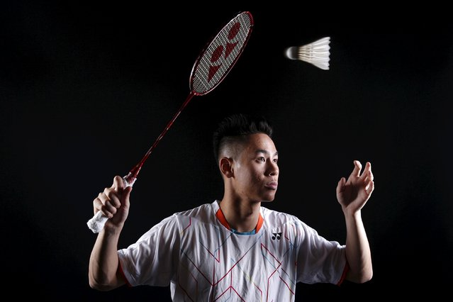 Badminton player Howard Shu poses for a portrait at the U.S. Olympic Committee Media Summit in Bever