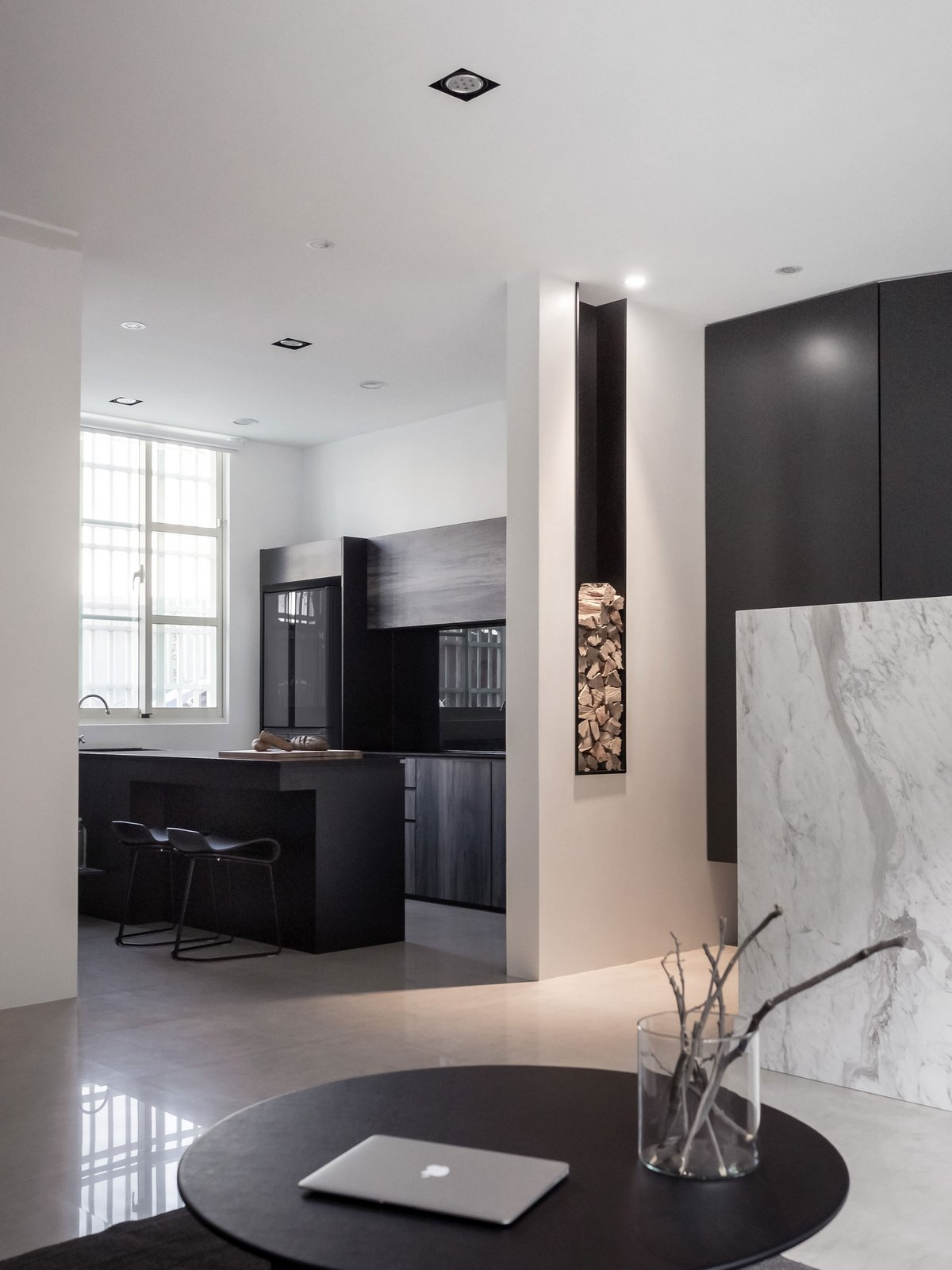 Z-AXIS DESIGN, Guo's Residence, интерьер минимализм фото, стильный интерьер фото, мужской дизайн интерьера квартиры, Тайчжун, Тайвань