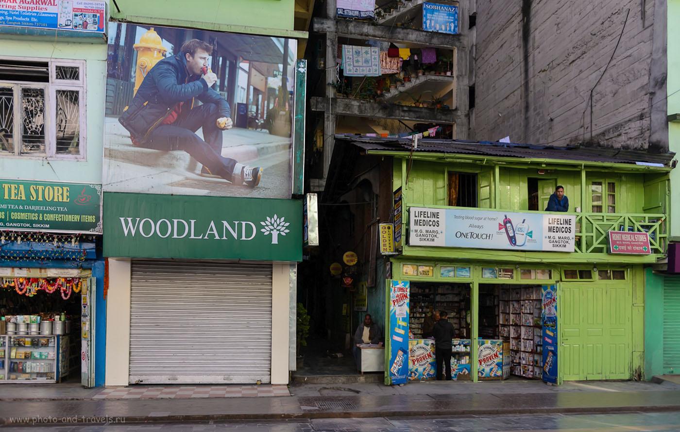 Фото 9. Как мы гуляли по центральной улице Гангтока. 2.8, 1/1000, 640, 29.