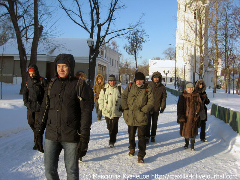 Участники похода в Рогожском поселке
