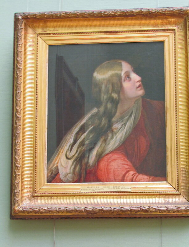 Голова Марии Магдалины.1834. х,м. 65 x 56