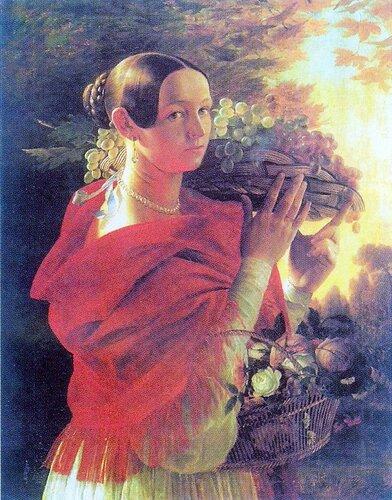 Хруцкий, Иван Фомич (Трофимович)Портрет молодой женщины с корзиной.( Энц. жи-си).jpg