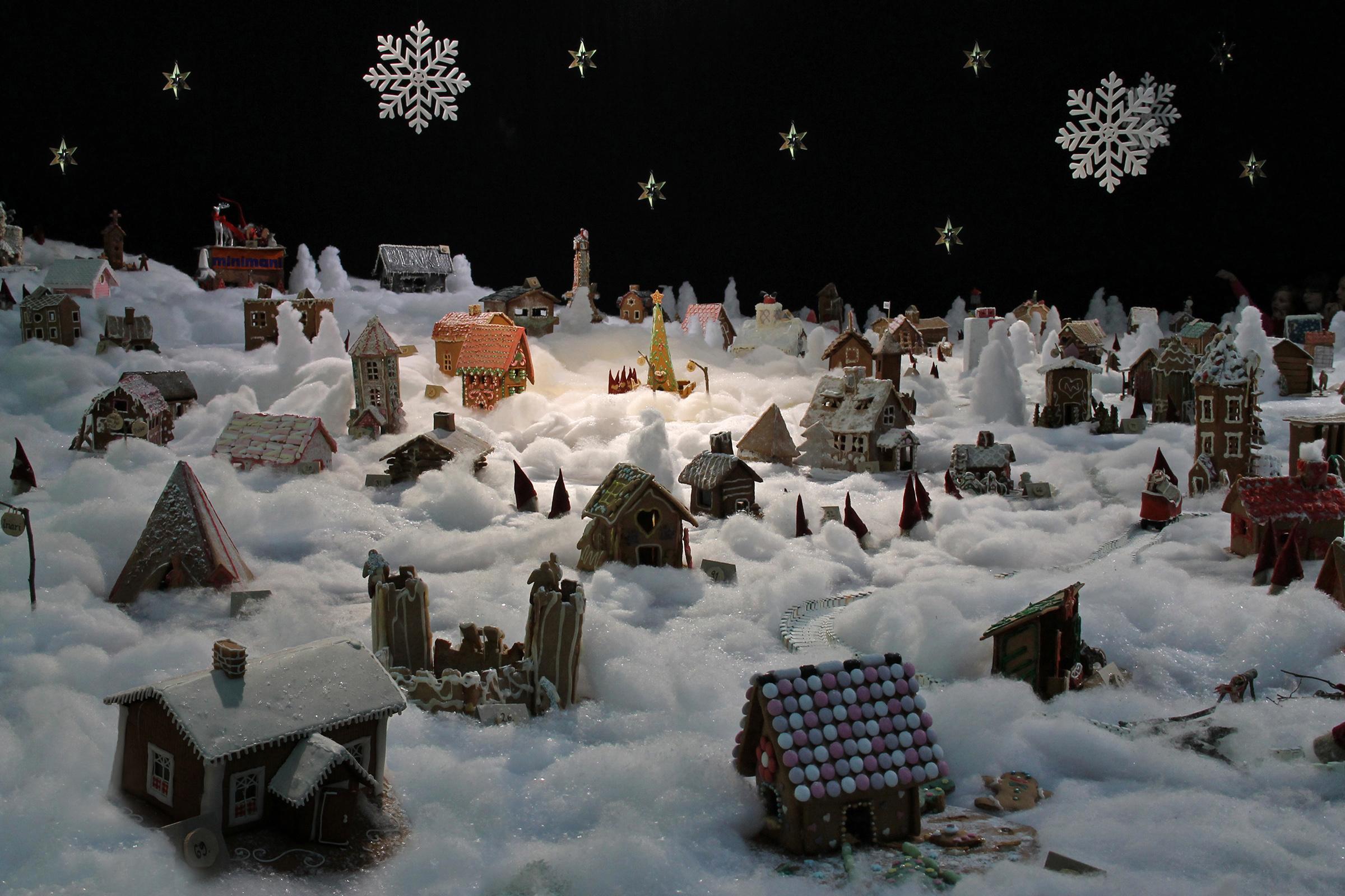 Пряничный город на Рождество