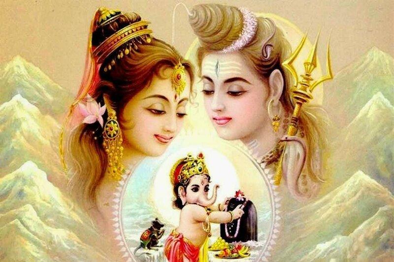 Шива, Парвати и Ганеша