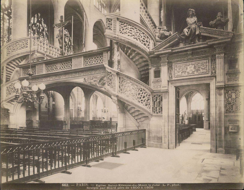 1880-е. Церковь Сент-Этьен-дю-Мон. Интерьер