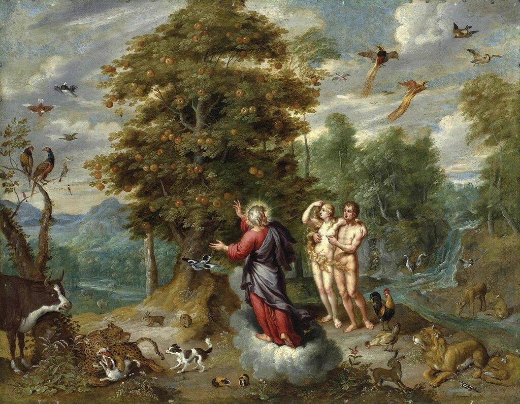 Бог показывает Адаму и Еве древо познания добра и зла (атр)_90.2 x 115.5_медь, масло_Частное собрание.jpg
