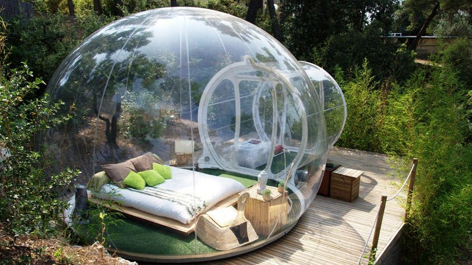 Прозрачная палатка для отдыха на природе