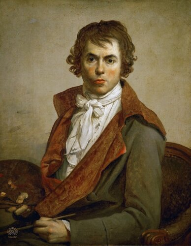 Жак-Луи Давид: Автопортрет Лувр, Париж (Musée du Louvre, Paris).1794, 81х64