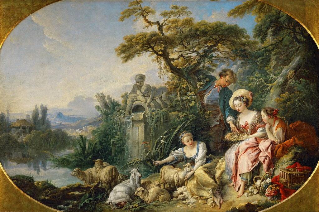 24.Гнездо (1740) (98 х 146) (Париж, Лувр).jpg