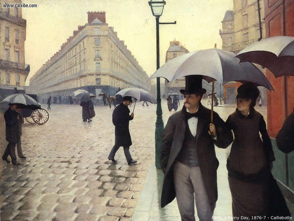 Paris street, Rainy Day - 1877 - Art Institute of Chicago - Painting - oil on canvas.jpg