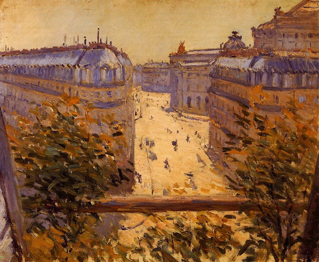 Rue Halevy, Balcony View  -  1878 - Private collection - Painting - oil on canvas.jpg