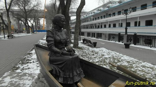 Набережная Ростова-на-Дону - зимняя прогулка