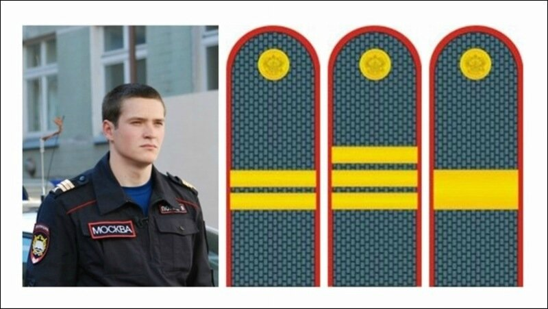 Как правильно сделать лычки на погоны полиции7