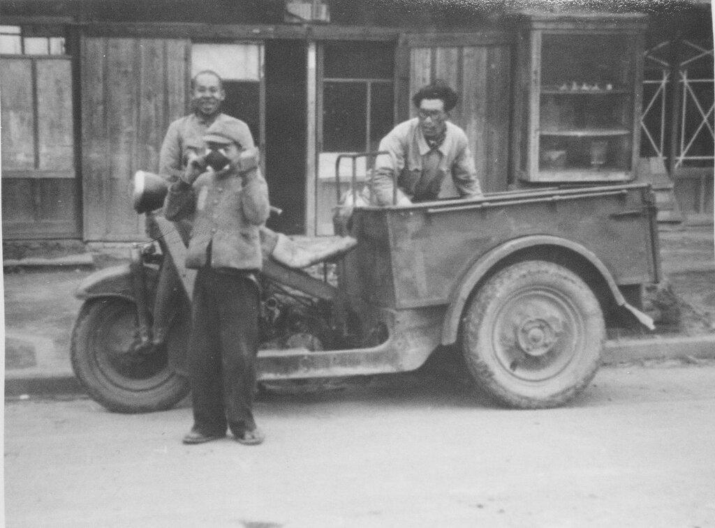 Motorcycle Truck, Fukuoka, Dec. 1945