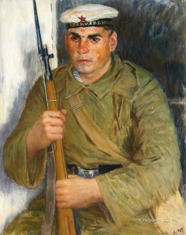 Лебедев Владимир Васильевич (1891-1967) «Портрет моряка-краснофлотца» 1937.