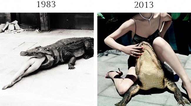 Вдохновленный балетом Пины Бауш, вкотором среди танцоров посцене ползали настоящие крокодилы, Хель