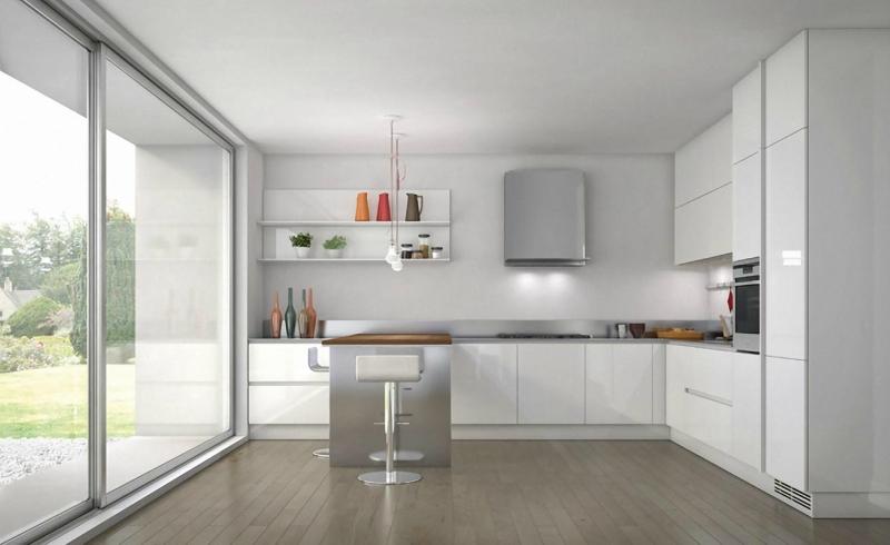 Дизайн кухни в светлых оттенках фото 8
