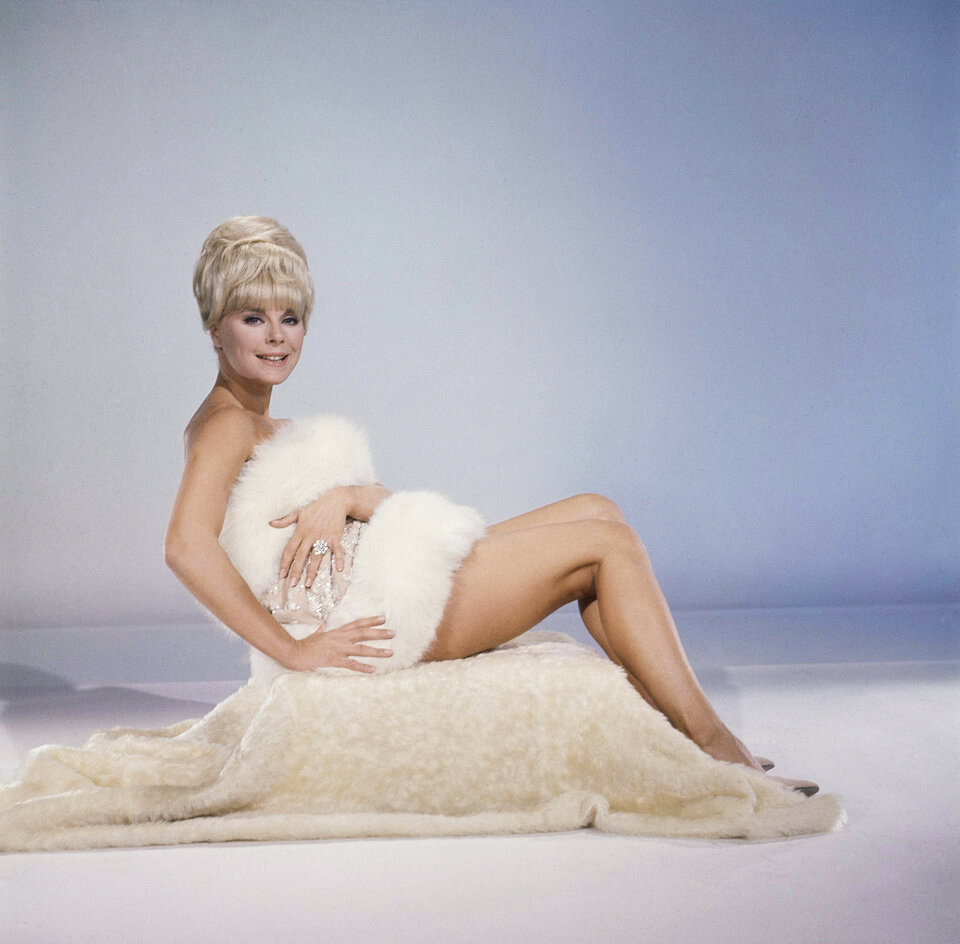German-born actress Elke Sommer  Posing