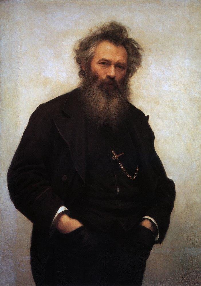 Портрет художника И. И. Шишкина - Крамской. 1880. Холст, масло. 115,5x83,5 см sishkin-kramskoi .jpg