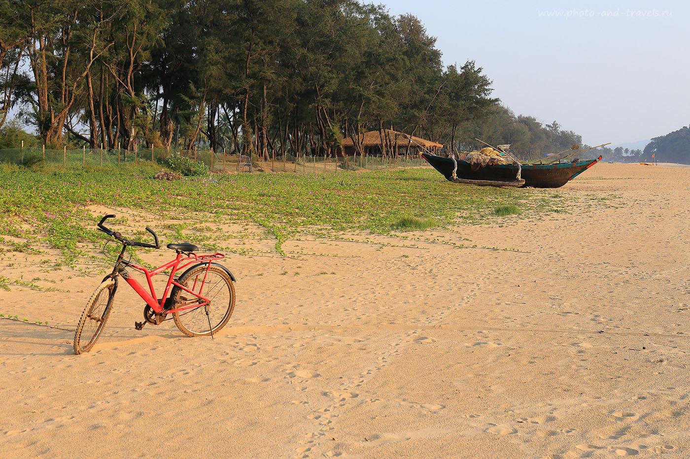32. Велосипед. Безлюдные пляжи Южного Гоа. Отчеты туристов о самостоятельном отдыхе в Индии (24-70, 1/400, 0eV, f9, 57mm, ISO 320)