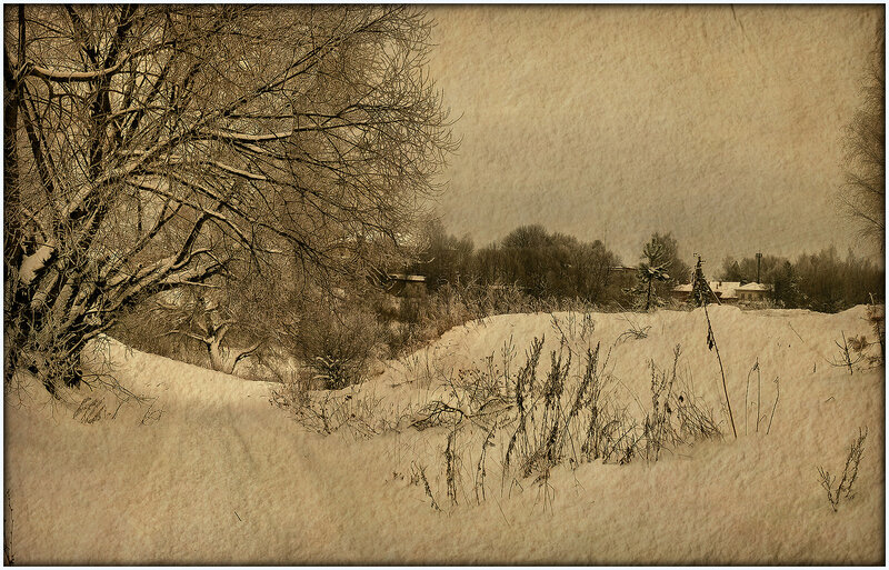 зима в старинном стиле