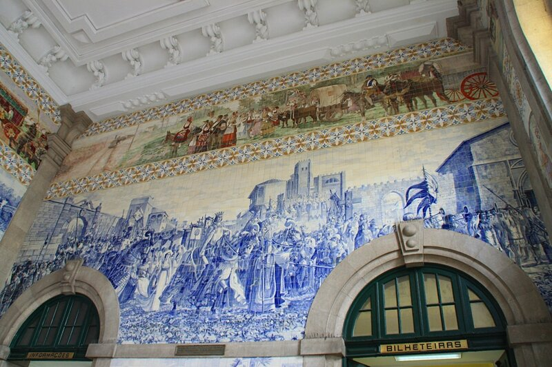 Порту, вокзал Sao Bento - азулежу (Porto train station Sao Bento - azulejo)