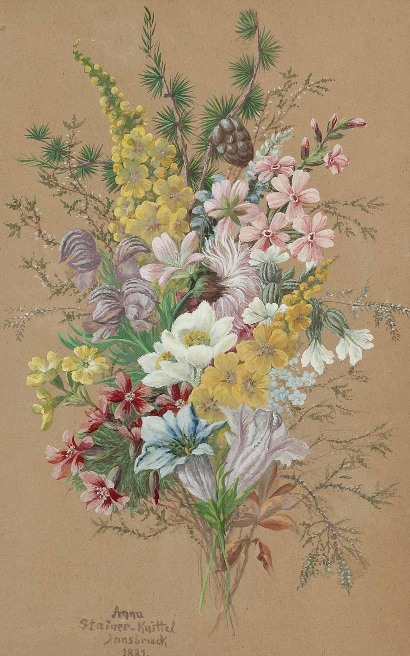 Alpenblumenstrauß 1889.