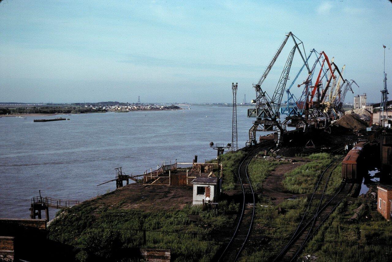 Омск. Порт на Иртыше