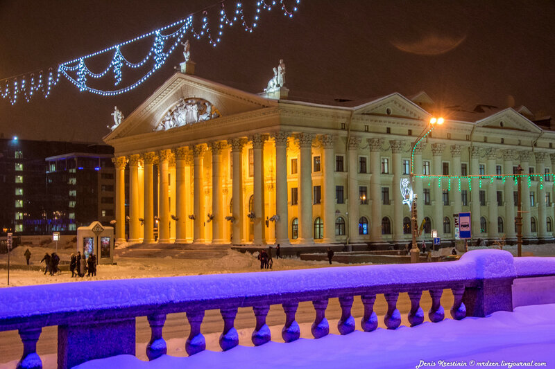 Снежный Минск. Даниелла. Проспект Независимости