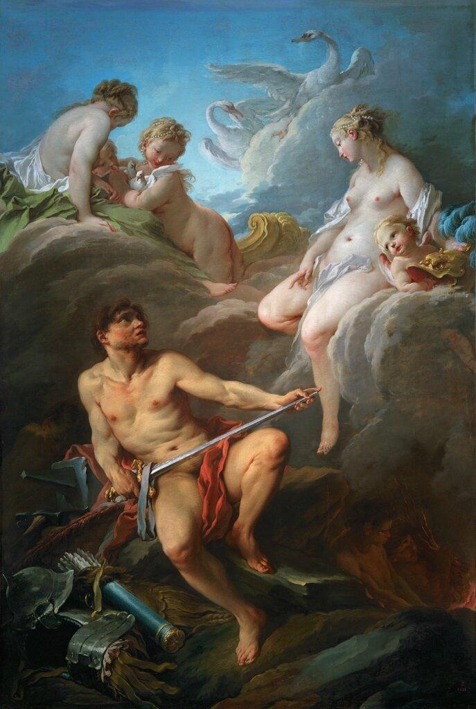 3.Венера, просящая у Вулкана оружие для Энея (1732) (252 x 175) (Париж, Лувр).jpg