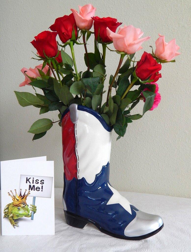Cowboy boot bouquet.