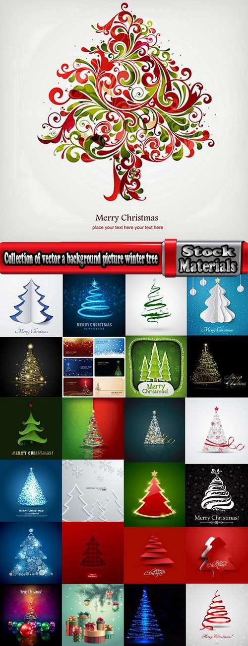 Новый год и Рождество - Новогодние Ёлки абстрактные