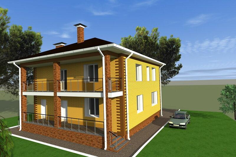 Внешний вид дома, фасады, вентилируемый фасад