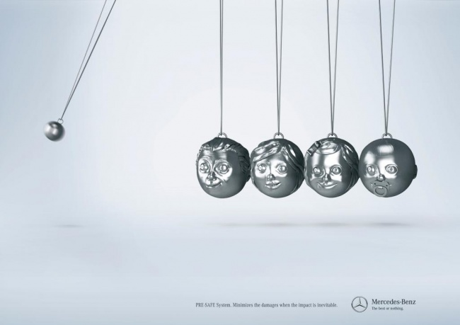 Система безопасности Mercedes-Benz.