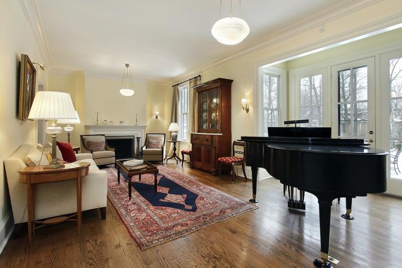Пианино и рояль в дизайне интерьера фото 15