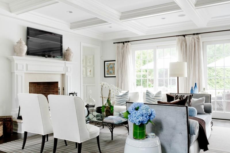 Дизайн интерьера гостиной в светлых оттенках фото 8