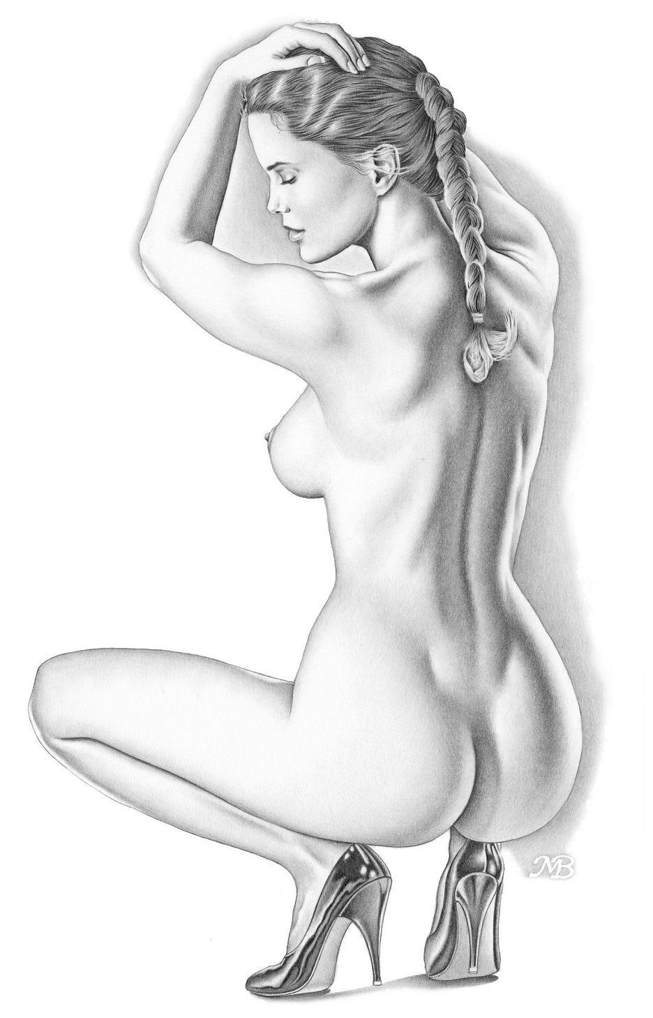 Рисунки эротика девушки
