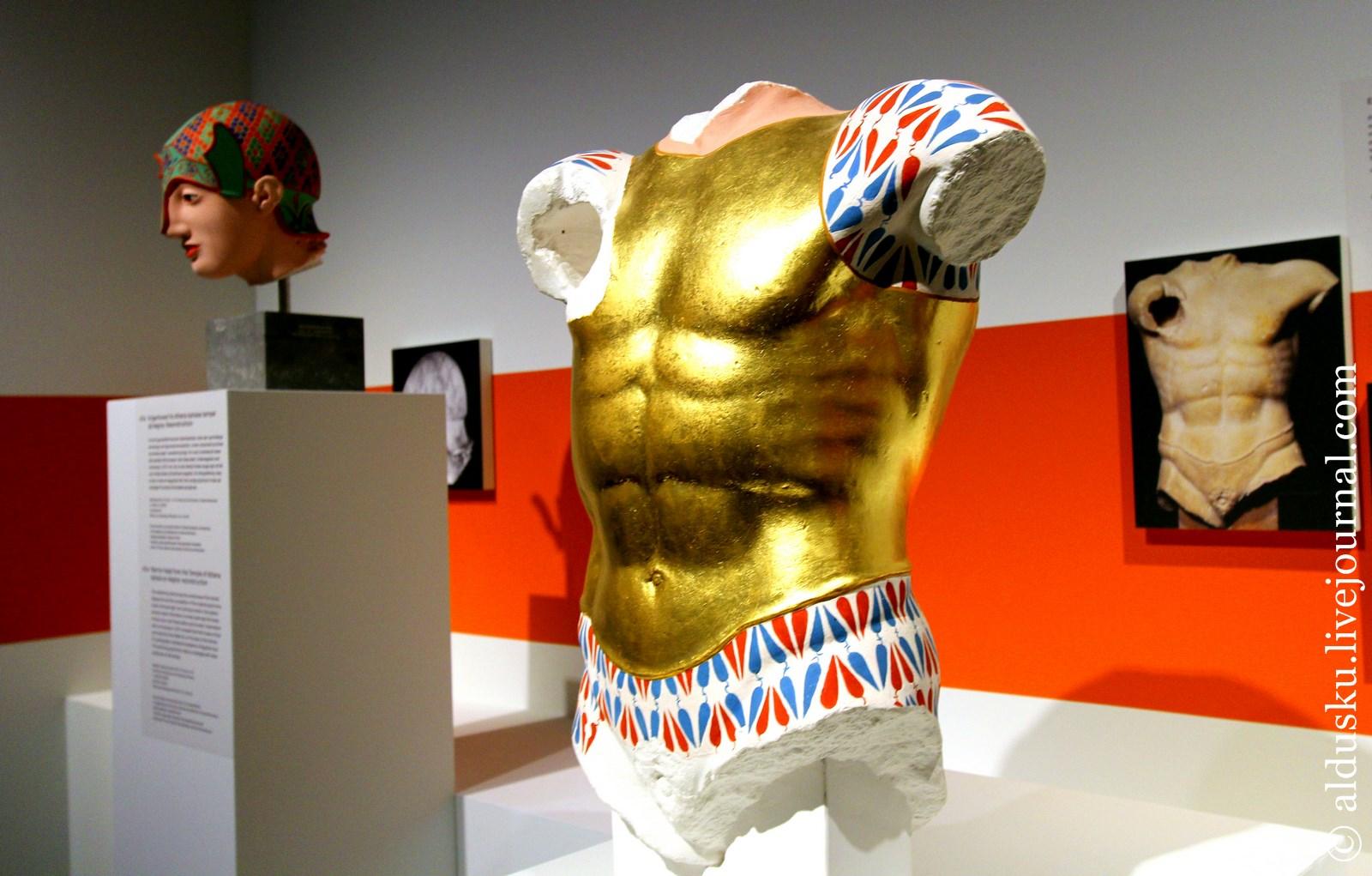 Выставка «Transformations classical sculpture in colour» [Трансформация античной скульптуры в цвет], экспонаты которой мне любезно разрешили сфотографировать. О ней в следующей заметке.