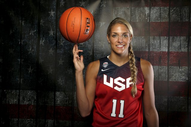 Basketball player Elena Delle Donne poses for a portrait at the U.S. Olympic Committee Media Summit