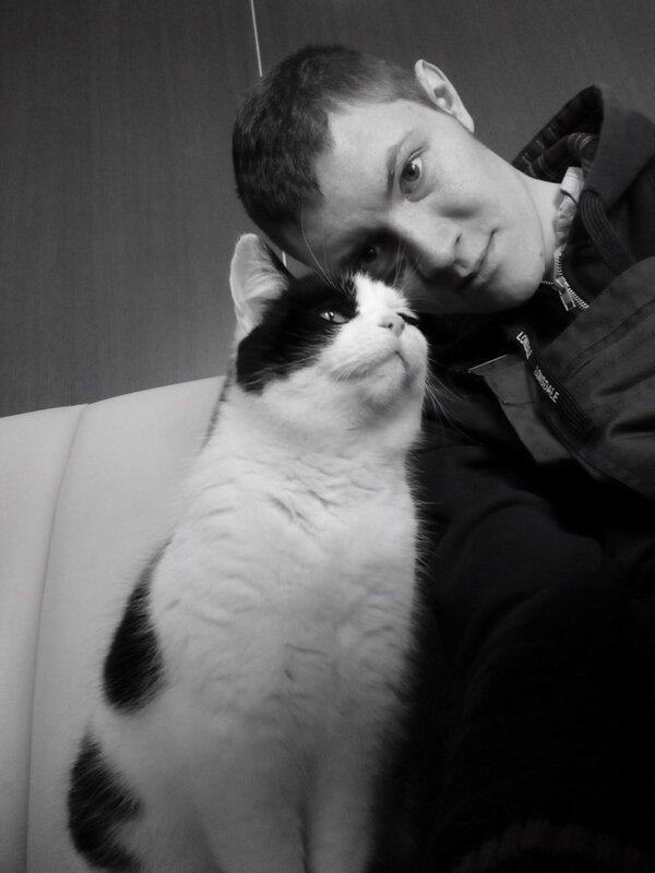 Денис Стяжкин и кот