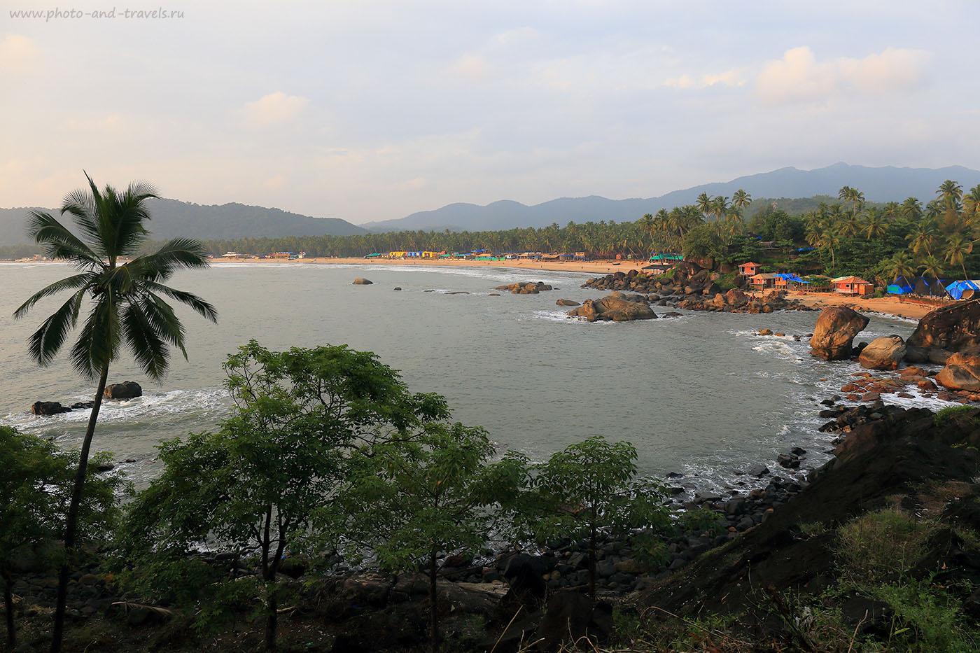 Фото 3. Вид на Палолем с мыса. Отзывы туристов о самостоятельном отдыхе штате Гоа в Индии (24-70,1/160, -1eV, f9, 24 mm, ISO 100)