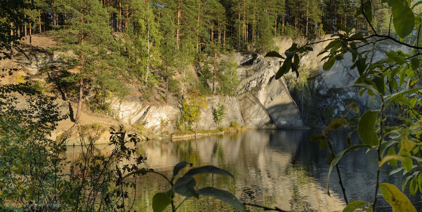 10. Тальков камень - это всего лишь затопленный тальковый карьер. Поездка на автомобиле в природный парк Бажовские места.