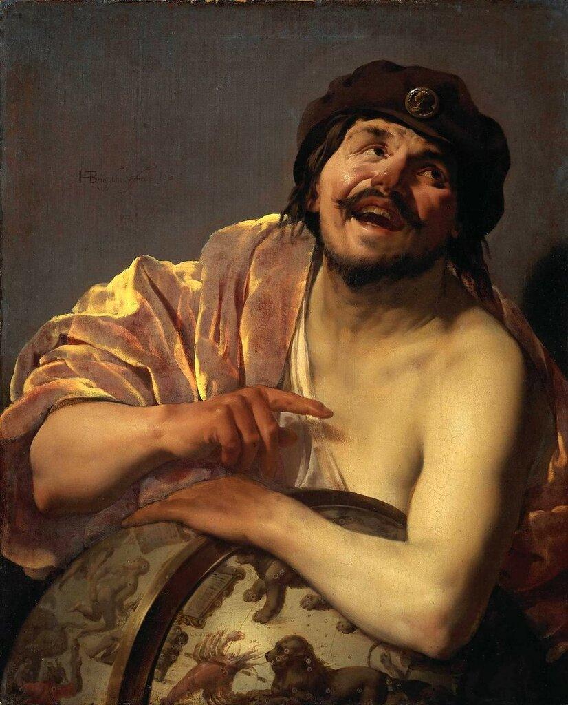 Хендрик Тербрюгген, «Смеющийся Демокрит» (1628)